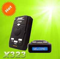 Wholesale Orginal Radar Detector Car Conqueror X323 Support X Band ku band k band KA Band Laser VG Fast DHL