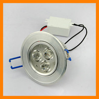 Wholesale 20pcs V W High Power LED Ceiling Light Down Recessed Lamp White Warm white LM