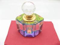 Wholesale Raibow Color Crystal Glass Perfume Bottles Fragrance Oil Bottles Portable Bottle With Gift Box