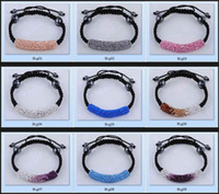 alloy tube bends - shamballa bracelets Micro Pave CZ Crystal Long tube bending beads bracelet