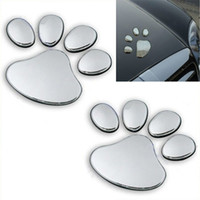 Wholesale Silver Bear Paw Pet Animal Footprints Emblem Car Truck Decor D Sticker Decal