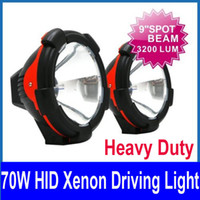 Wholesale Pair quot W Heavy Duty HID Xenon Driving Light Super Bright SUV ATV WD Truck V Spot Flood Beam
