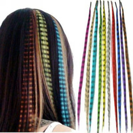 Wholesale 20 colors Inch Synthetic Grizzly Rooster Feather Hair Extension hairstyles for Extensions