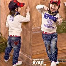 Wholesale Children pants boys cute cartoon images jeans kids Casual jeans dandys