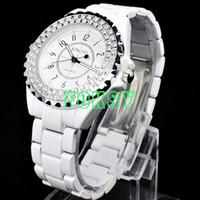 Wholesale 1PCS Japan Movement Mens Ladies Watch Sinobi Casual Diamond Bezel Lovers Watches WristWatch