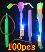 Wholesale LED Amazing arrow helicopter Flying umbrella OPP BAG PACKING Free Shiping