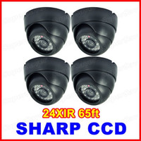 Wholesale High Resolution TVL CCD Color IR Surveillance Security CCTV Camera Dome Retail Box Supersaver