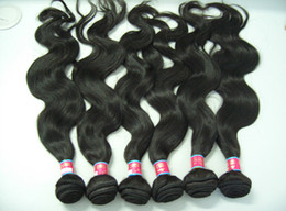 """Great Hair Virgin Remy Brazilian Hair Weft Body Wave 14"""" - 24"""" Natural Black Color"""