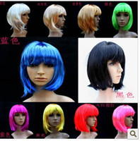 Wholesale Wonderful Short Straight Cosplay Party Fancy Dress Fake Hair Wig Wigs