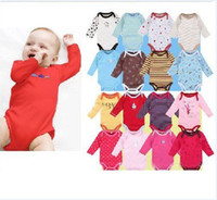 Wholesale 20pcs total packs BABY long sleeve rompers bodysuit baby rompers Toddler jumpsuits baby goods