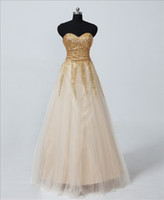 Wholesale Actual Image Hot Sweetheart Blingbling Swift Tulle A Line Long Formal Prom Gown Party Dresses