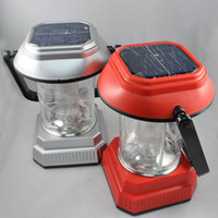 Wholesale LED Solar Camping Light LED Camping Lantern Hand Crank Charging USB Adapter