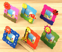 Wholesale Cartoon wooden small photo frame Cute children photo frame Student prize color g