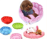 Wholesale Hot Practical Soft Slumber Pet Plush Bolster Round Dual Purpose Nest Pet Dog Bed