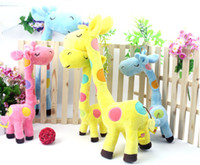 Wholesale 2012 New Best Lovely Colorful Giraffe Dolls Toy Soft Plush Stuffed Toys For Kids CM Colors