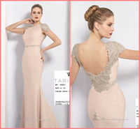 Wholesale Gorgeous High Neckline Mermaid Modern Ruffle Beaded Floor Length Prom Dresses Evening Carpet Gowns