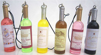 Wholesale Mini wine bottles chain mobile phone pendants fashion wine bottle with simulatio New Arrive