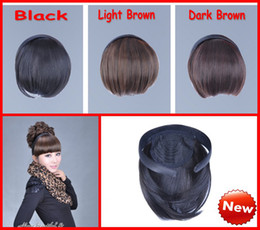 Wholesale 3 Dark Brown Light Brown Black Women Headband Fringe Natural Bang Hot Sexy Front Hair Extension