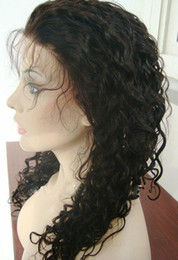14-22 inches Cambodian Virgin Human Hair Dark Brown Color Full Lace Wigs(color2)