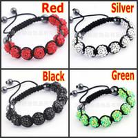 Beaded, Strands shamballa bracelets - Womens Mens Shamballa Bracelet Jewelry MM Resin Crystal Beads Disco Ball Bracelets