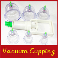 Wholesale 6pcs set Chinese BRAND Pull Out Vacuum Apparatus Cup Cupping Therapy Apparatus Body Massage Retail