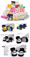 Wholesale 10 Pair Cartoon Baby Girl Boy Anti slip Socks sock Slipper Shoes Boots Month