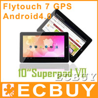 Wholesale 10 inch GPS Android Tablet PC Flytouch Superpad7 GB GB GB GB Allwinner A10 G G G G