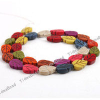 Wholesale 5 strings Mixed Leaves Shaped Turquoise Beads Gemstone Loose Beads Diy Bead Stone Beads