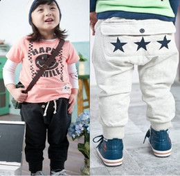 Wholesale 5pcs baby boy girl cute stars pants kids soft cotton trousers children pants Autumn Spring pants