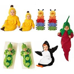 Wholesale 5 styles Newborn Baby sleeping bag caterpillar pea banana pengiun chilli sleeping bags