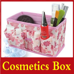 Wholesale 12pcs Collapsible Cosmetics Cases Organizer Makeup Bags Storage Boxes Tools Powder Box Dressing Case