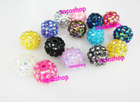 Round basketball wives beads - 100pcs Jewelry Basketball Wives Earrings Resin Beads mm Resin Disco balls