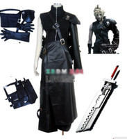 Wholesale Final Fantasy VII Cloud Cosplay Costume Armor Gloves Wig Sword Bag