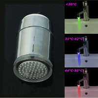 Wholesale Color LED Filter Glow Bathroom Sink Basin Faucet Temperature Sensor Light Tap