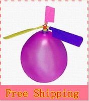 Wholesale 100pcs Balloon Helicopter balloon Toy children Toy self combined Balloon Helicopter