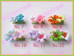free shipping 320pcs Girls Bug Hair Bow Clip ribbon flower clips style boutique hair bow