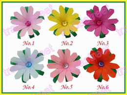 free shipping 50pcs Girls Bug Hair Bow Clip ribbon flower clips style boutique hair bow