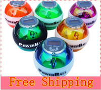 Wholesale Power ball with LED and Meter Wrist ball red color
