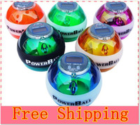 Wholesale Power Gyroscope LED Wrist Strengthener Ball SPEED METER Power Grip Ball Power Ball