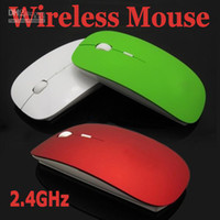 Wholesale 50pcs Thin Slim USB Wireless Optical Mouse GHz Blue ray Mice PC Laptop