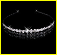 Wholesale In Stock Real Picture Hot Selling Crystal Diamond Bridal Tiaras Crown Jewelry Set