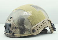 Wholesale FMA Ops core Helmet A Tacs Helmet Sports Helmet can connected headlights