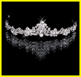 Wholesale Charming In Stock Real Photos Crystal Bridal Tiaras Hair Powder Wedding Jewelry Accessory