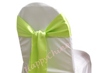 Wholesale 100PCS Satin Chair Sash Wedding Chair Sashes Chair Cover Sash Banquet Wedding Party Decoration