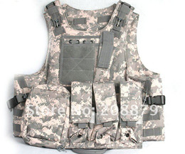 Free Shipping Molle Tactical Vest   Seal Amphibious ves  War Game Protective vest