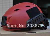 Wholesale EMERSON OPS CORE FAST Base Jump Military Helmet Sports Helmet can connected headlights Red colour