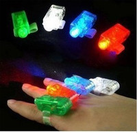 Wholesale LED finger Light Colors cool party tool fashion Finger Ring christmas Party Fun Gadget Laser