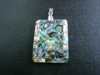 Wholesale Natural Mother Of Pearl Abalone Shell rectangle shape jewelry patchwork pendants