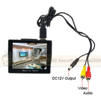Wholesale Portable quot TFT Color Security Video Audio Monitor Tester DC12V