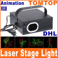 Wholesale DHL MW RGB Full Color Animation Laser Stage Disco DJ Light AC110 V Express Delivery H4876
